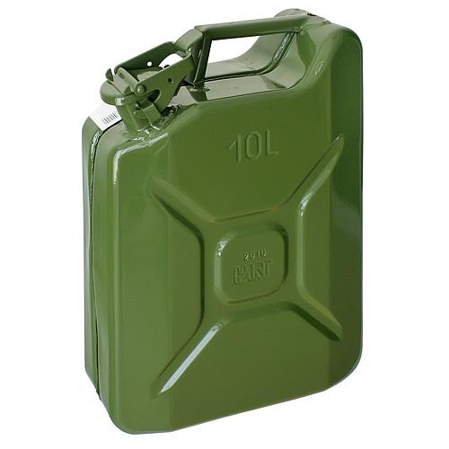 Kanister Jerican 20 lit, kovový, GS/TUV, zelený, RAL6003