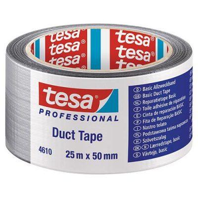 Páska tesa BASIC Duct Tape strieborná textilná 50mm L-25m
