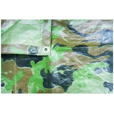 Plachta Tarpaulin Khaki 5x8m, 80 g/m, prekrývacia, oliva/kamufláž
