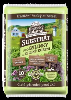 Substrát na bylinky, 10l hoštické hnojivo