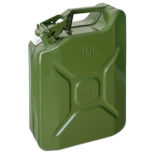 Kanister Jerican 10 lit, kovový, GS/TUV, zelený, RAL6003