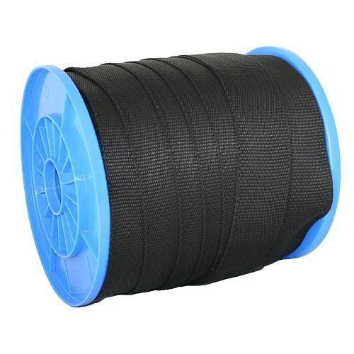 Popruh Strend Pro WR50, 25 mm, čierny, PP, 190 kg / m