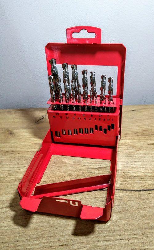 Sada vrtákov Makita P-60517, 19ks, 1-10x0,5, HSS-G metal