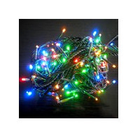 Vianočná svetelná LED girlanda 16m 192 LED farebná RA380C