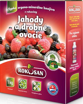 Rokosan Jahody a drobné ovocie - organomin. hnojivo z rohoviny, 1kg
