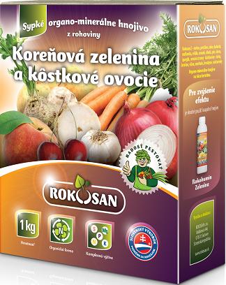 Rokosan Koreňová zelenina / Kôstkové ovocie - organomin. hnojivo z rohoviny, 1kg
