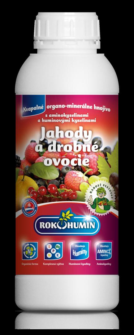 Rokohumin Jahody a drobné ovocie - organomin. hnojivo s amino. a humínovými kyselinami, 1l