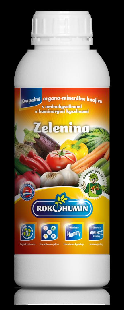 Rokohumin Zelenina - organominerálne hnojivo s amino. a humínovými kyselinami, 1l