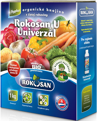 Rokosan Univerzál - sypké organické hnojivo z čistej rohoviny, 1kg