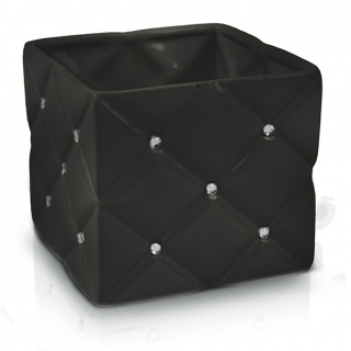 Obal glamour čierny keramický 14cm