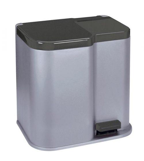 Kôš Curver® DUO BIN 21L, strieborný/čierný, na odpad