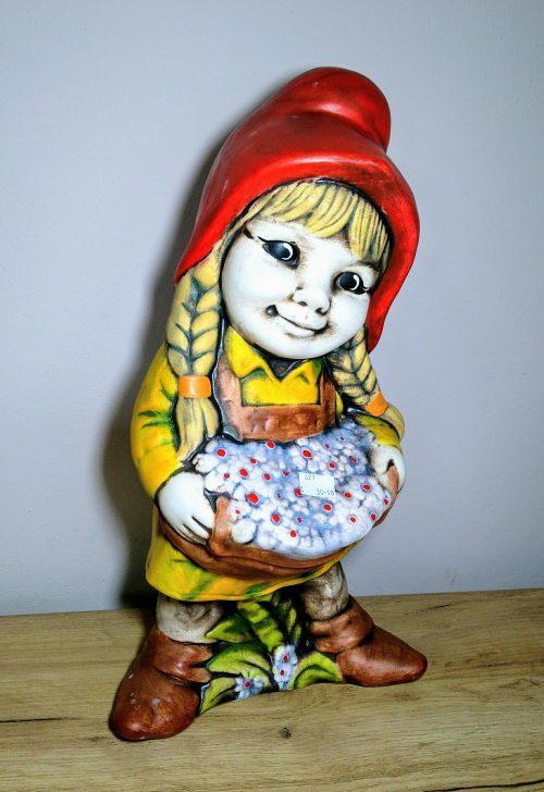 Trpaslík dievča 45cm socha zahradna