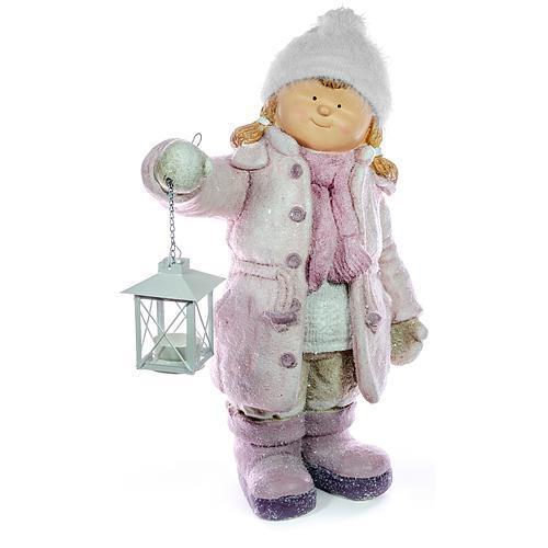 vianocna Postavička Xecco 182031, Dievčatko s lampášikom, magnesia