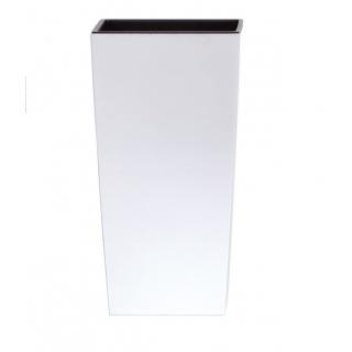 Kvetináč DURS Urbi square biely matný, 32,5x61cm
