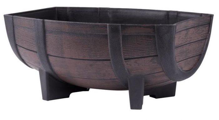 drevený efekt, UV stabilný, materiál: PP , šírka 30 cm - dĺžka: 40 cm - výška: 18 cm