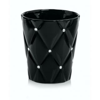 Kvetináč obal Glamour čierny 14cm