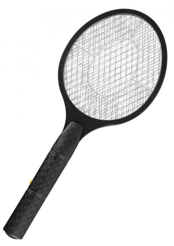 Lapač hmyzu Strend Pro elektrický raketa čierny 47x18cm