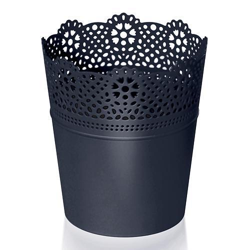Kvetináč Lace obal s čipkou antracit 160mm