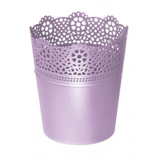 Kvetináč Lace obal s čipkou levanduľa 160mm