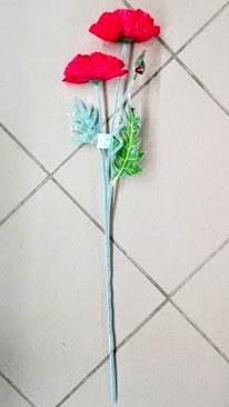 Mak vlčí 2x umelé kvety 68cm
