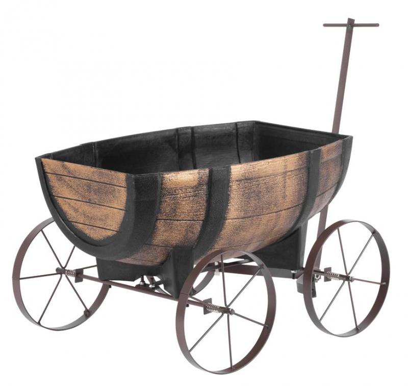 Kvetináč GDA Woodeff 817 whiskey barel wagon 41/5x29x19cm