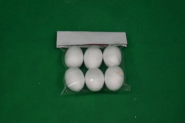 Vajíčko polystyrén 6cm/6ks veľkonočná dekorácia