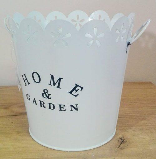 Kvetináč obal plechový Home and Garden 17x18cm