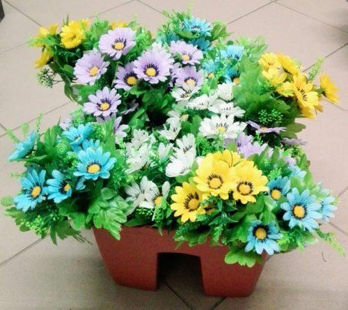 Umelé kvety Kytica margarétka x7