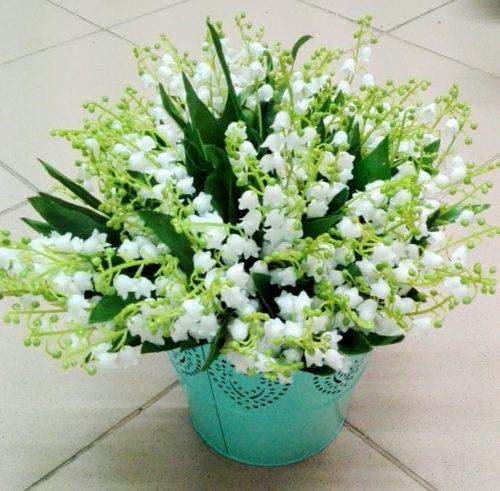 Umelé kvety Kytica konvalinka x5