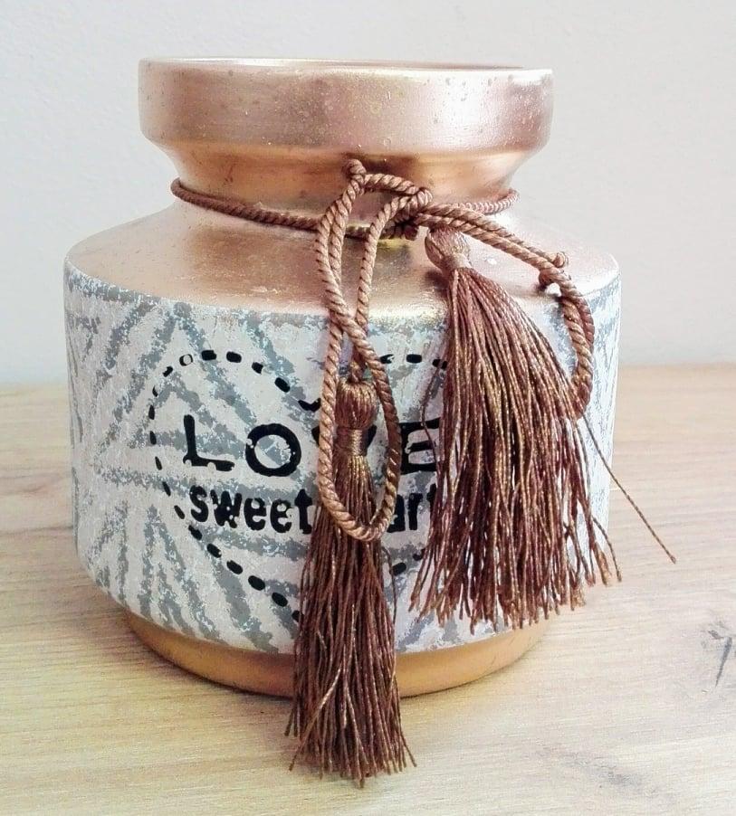 Keramická váza Love sweet heart 14x13cm