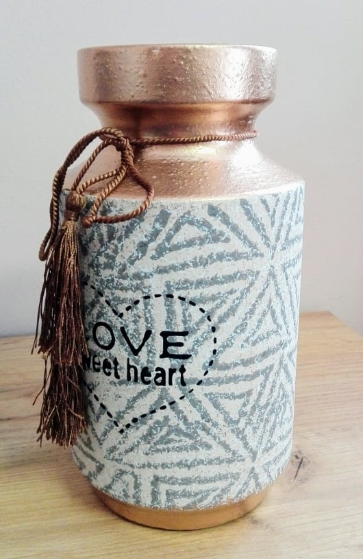 Keramická váza Love sweet heart 25x13cm