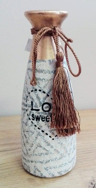 Keramická váza Love sweet heart 20x7cm