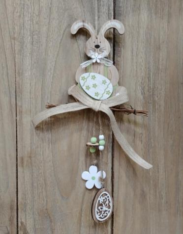 Zajac závesný veľkonočná dekorácia 46cm