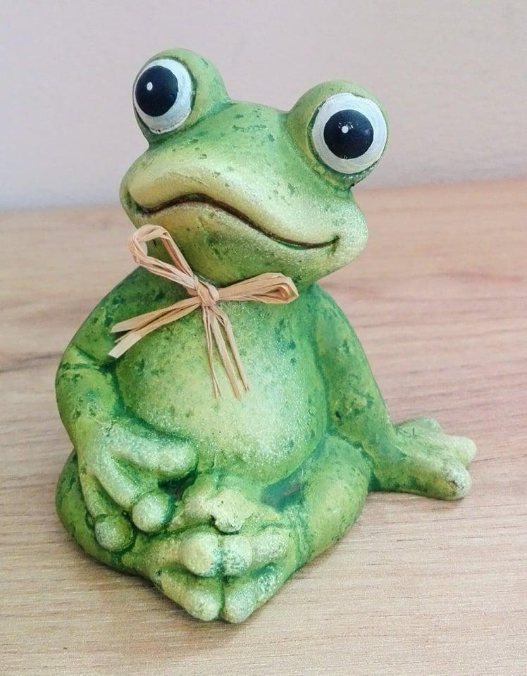 Dekorácia žaba keramická 10cm
