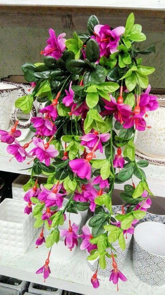 Umelé kvety Fuchsia ťahačka x15 mix
