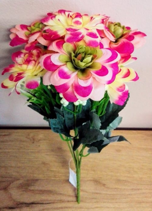 Umelé kvety Kytica Dália 7x mix farieb