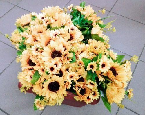 Umelé kvety Kytica slnečnica 7x