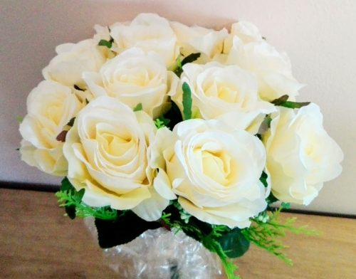 Umelé kvety Kytica ruží 12ks mix farieb