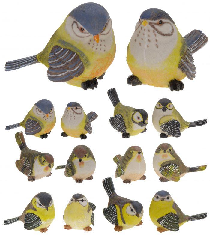 Vtáčik mix farieb 15x11cm