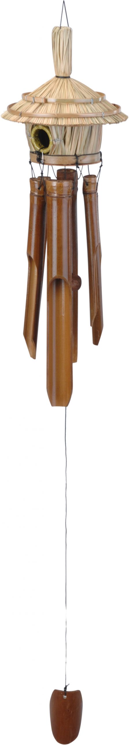Vtáčia búdka s bambusovou zvonkohrou