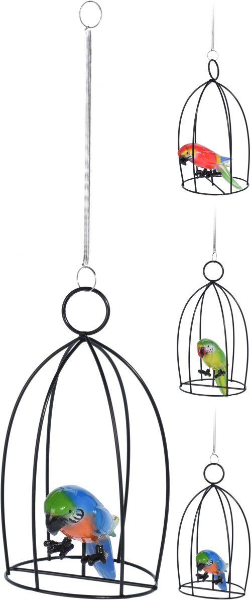 Papagáj v klietke 20x10cm