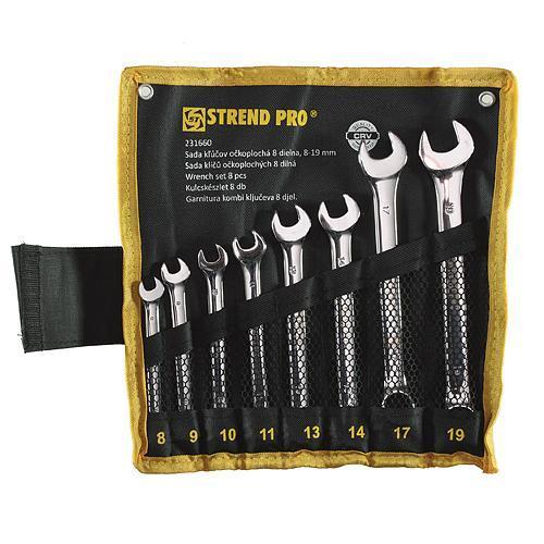 Sada kľúčov Strend Pro HR31583 očkoplochá 8dielna Cr-V 8-19mm