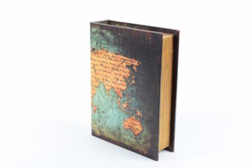 Dekoračná dóza kniha drevená 29x23x7cm