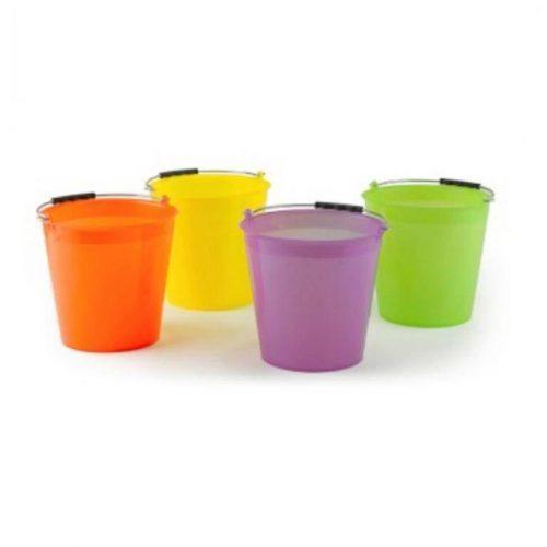 Vedro 6l plastové mix farieb