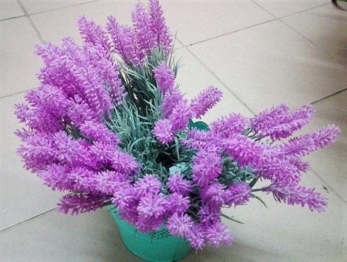 Umelé kvety kytica levanduľa x7
