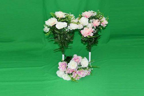 Umelé kvety Kytica ruža pivónia x16 57cm