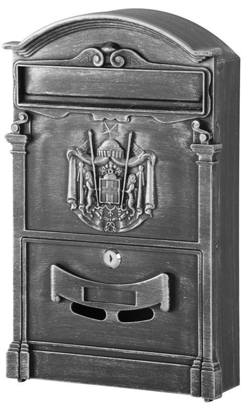 Schranka ALU hliníková antique silver 410x255x90mm