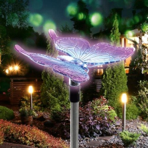 Solárna lampa motýľ