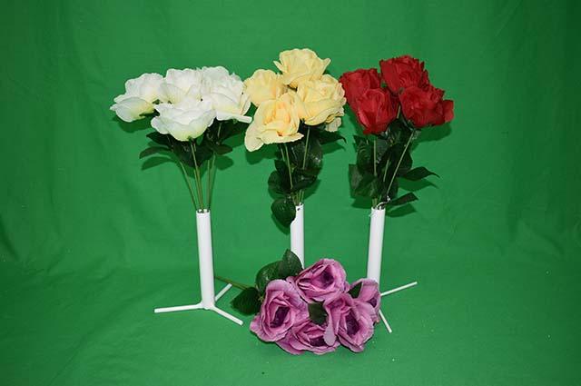 Umelé kvety Kytica ruža x6 34cm