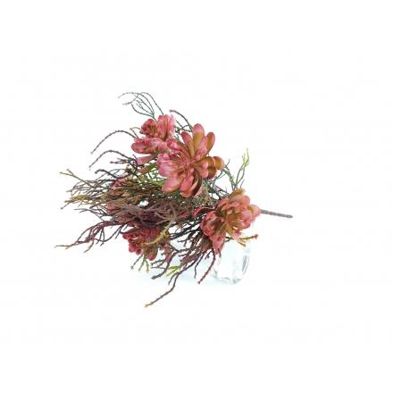 Umelé kvety Kytica sukulent tráva